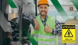 Sinalização na obra para prevenção de acidentes de trabalho